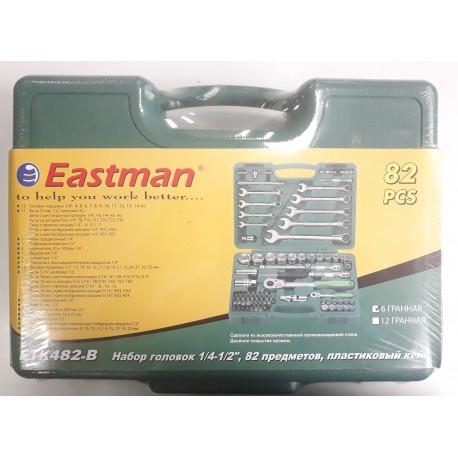 """Набор инструментов Eastman 1/4-1/2"""", 82 предмета,пластик.кейс (ETK482-B)"""
