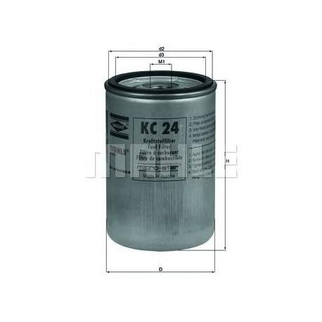 Фильтр топливный MAHLE FILTERS KC24