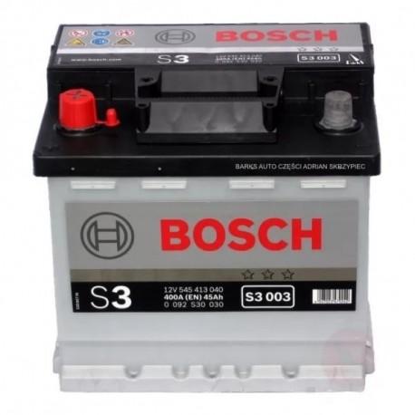 Аккумулятор залитый 6СТ-45Аз Bosch S3 Silver (400А) (L+)