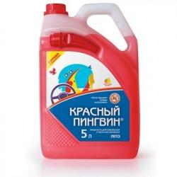 """Жидкость для омывания стекол автомобиля """"Красный пингвин"""" (лето) с лейкой 5 л"""