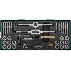 AG10001SP Набор метчиков и плашек с аксессуарами 40 предметов, ложемент JONNESWAY