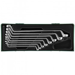 W23108SP Набор ключей накидных 75-гр, 6-22 мм, ложемент в пластиковом кейсе JONNESWAY