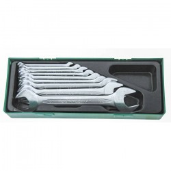 W25110SP Набор рожковых ключей, 10 предметов, ложемент, пластиковый JONNESWAY