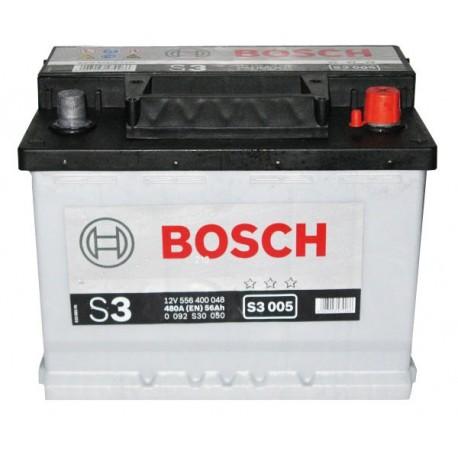 Аккумулятор залитый 6СТ-56АзЕ Bosch S3 Silver (480А) (R+)