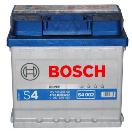 Аккумулятор залитый 6СТ-52АзЕ Bosch S4 Silver (470А) (L+)