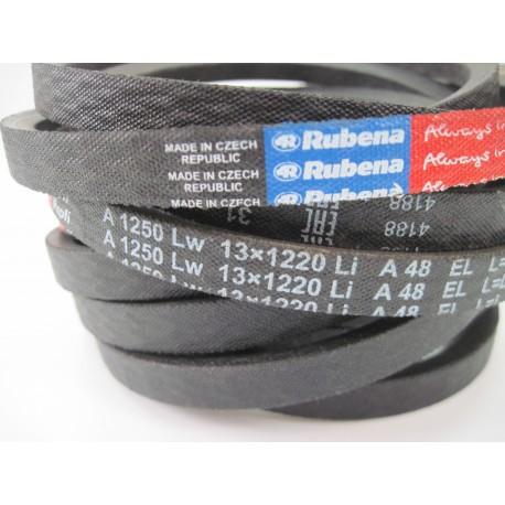 Ремень приводной клиновой A 1250 Lw RUBENA