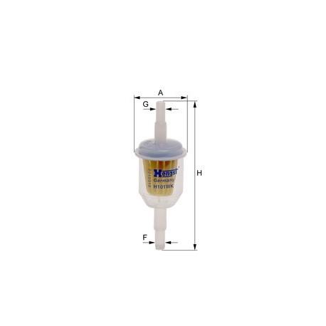 Фильтр топливный Hengst H101WK