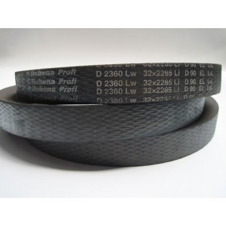 Ремень приводной клиновой D 2360 Lw RUBENA