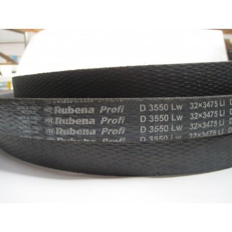 Ремень приводной клиновой D 3550 Lw RUBENA