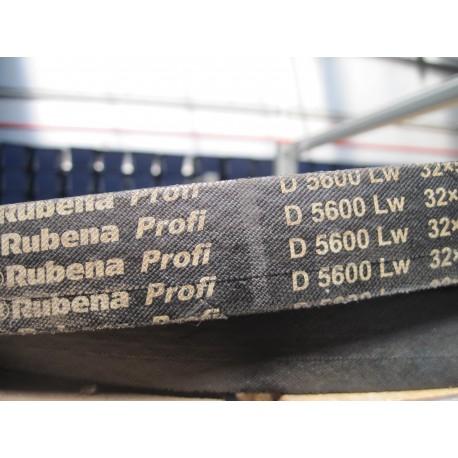 Ремень приводной клиновой D 5600 Lw RUBENA