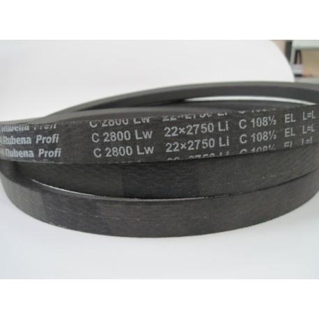 Ремень приводной клиновой C 2800 Lw RUBENA