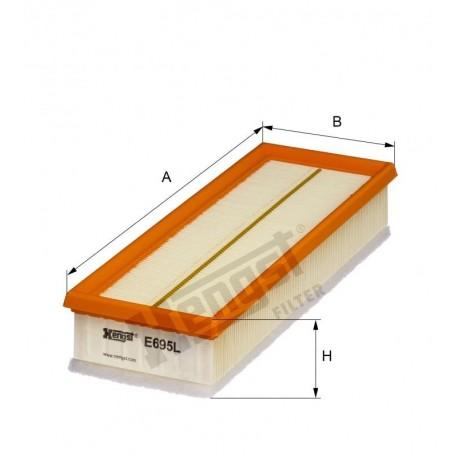Элемент фильтрующий воздуха Hengst E695L