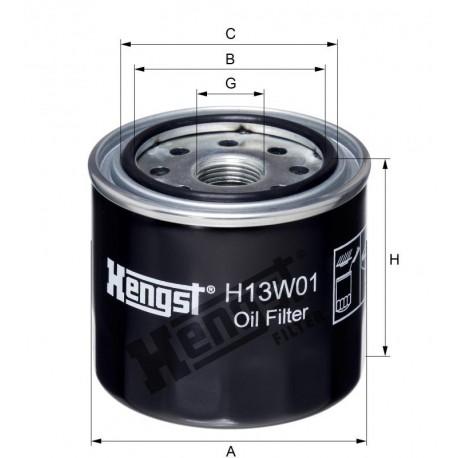Фильтр масляный Hengst H13W01