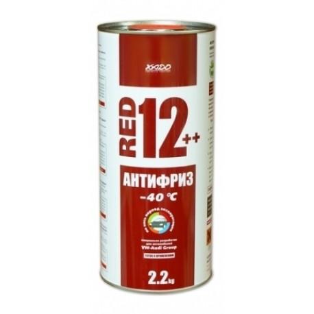 XADO Антифриз для двигателя Antifreeze Red 12++ -40⁰С 2,2кг