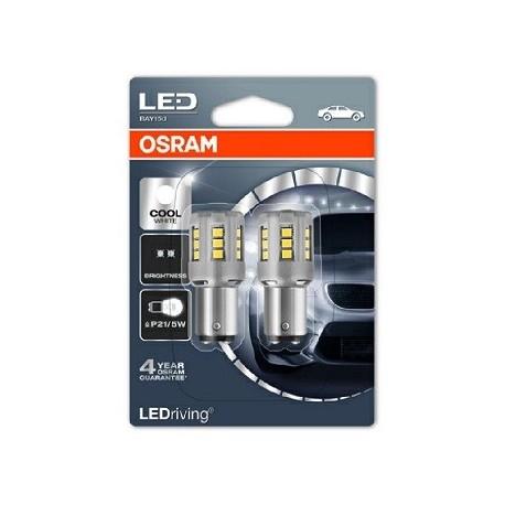 Лампа LED 12V 21/5W BAY15d Osram (1457CW-02B )