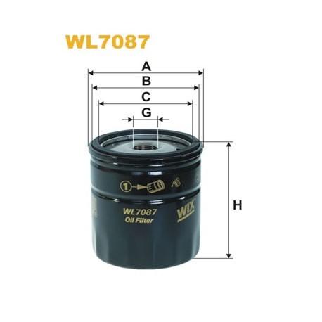 Фильтр масляный WIX WL7087