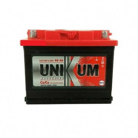 Аккумулятор залитый 6СТ-60 UNIKUM (480А) (L+)