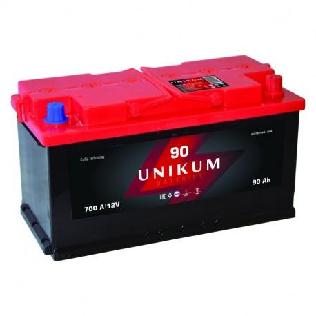Аккумулятор залитый 6СТ-90 UNIKUM(700А) (R+)