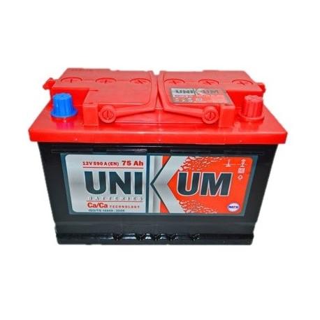 Аккумулятор залитый 6СТ-75 Unikum (590А) (R+)