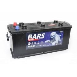 Аккумулятор залитый 6СТ-140(плоский конус)Bars Silver (R+)