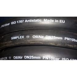 SIMPLEX Рукав напорный масло бензостойкий п/м DN25х35 PN20bar