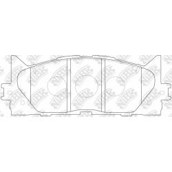Колодки спортивные дисковые NIBK PN1521S