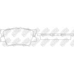 Колодки спортивные дисковые NIBK PN1522S