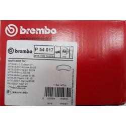 Колодки тормозные дисковые передние (к-кт 4шт) BREMBO BM P54017